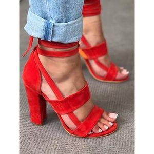 Shoes - Block Style Heel Sandal
